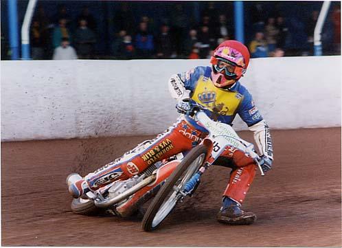 Jan in action v Exeter April 1995